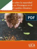 Perspectivas sobre la seguridad alimentaria en Nicaragua en el contexto del cambio climático Reflexiones y propuestas