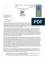 4601 Market St Project Letter to Mayor Kenney