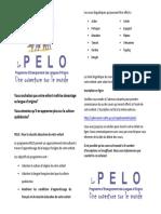 Feuillet Promo Pelo 2017 2018