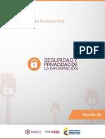 Aseguramiento Protocolo IPV6