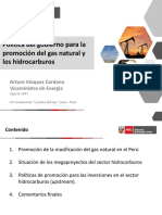 PPT Política de Promción GN - Hidrocarburos 20170823 AVasquez