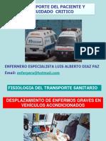 Transporte Del Paciente y Cuidado Critico