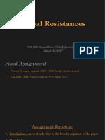 Global Resistances