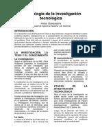 Metodología de La Investigación Tecnológica