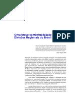 Uma Breve Contextualização Das Divisões Regionais Do Brasil