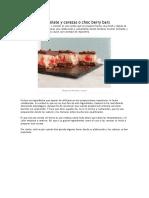 Barritas de Chocolate y Cerezas o Choc Berry Bars
