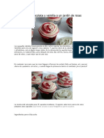 Cupcakes de Chocolate y Vainilla o Un Jardín de Rosas