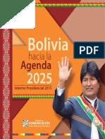 Bolivia Agenda 2025(Informe 2015)