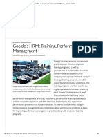 Google's HRM_ Training, Performance Management - Panmore Institute