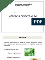 FARMACOGNOSIA- Métodos de extração