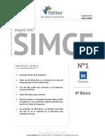 Ensayo1 Simce Matematica 4basico 2016