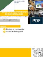 6. Tecnicas e Instrumentos de Investigación