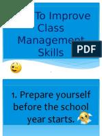 Tips Classroom Mngt.
