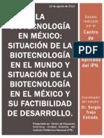Biotec Su Situacion y Desarrollo en Mex y en El Mundo