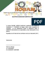 MODELO CERTIFICADO LABORAL