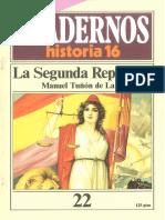 Cuadernos de Historia 16 022 La Segunda Republica 1985.pdf