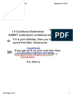 lesson conditional statments pgs 12 and 13