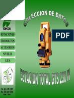 1.- Manejo de  Estacion Total Topcon Colector de datos.pdf