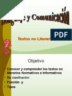Textos NO Literarios Lenguaje