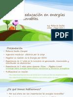 La Educación en Energías Renovables