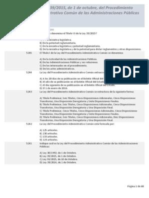 Test Ley 39 2015 E Pdf Información Del Gobierno Gobierno