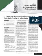 La Estructura, Organización y Funciones de La CGR - DICIEMBRE 2010