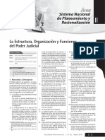 La Estructura, Organización y Funciones Poder Judicial -1ra AGOSTO 2010