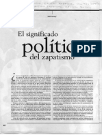 El Significado Político Del Zapatismo Harvey Revista