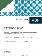 Aula 9 - Transformações Lineares