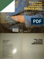 Teoría y Técnica de La Terapia Psicoanalítica de Adolescentes [Núñez, Romero & Tavira]