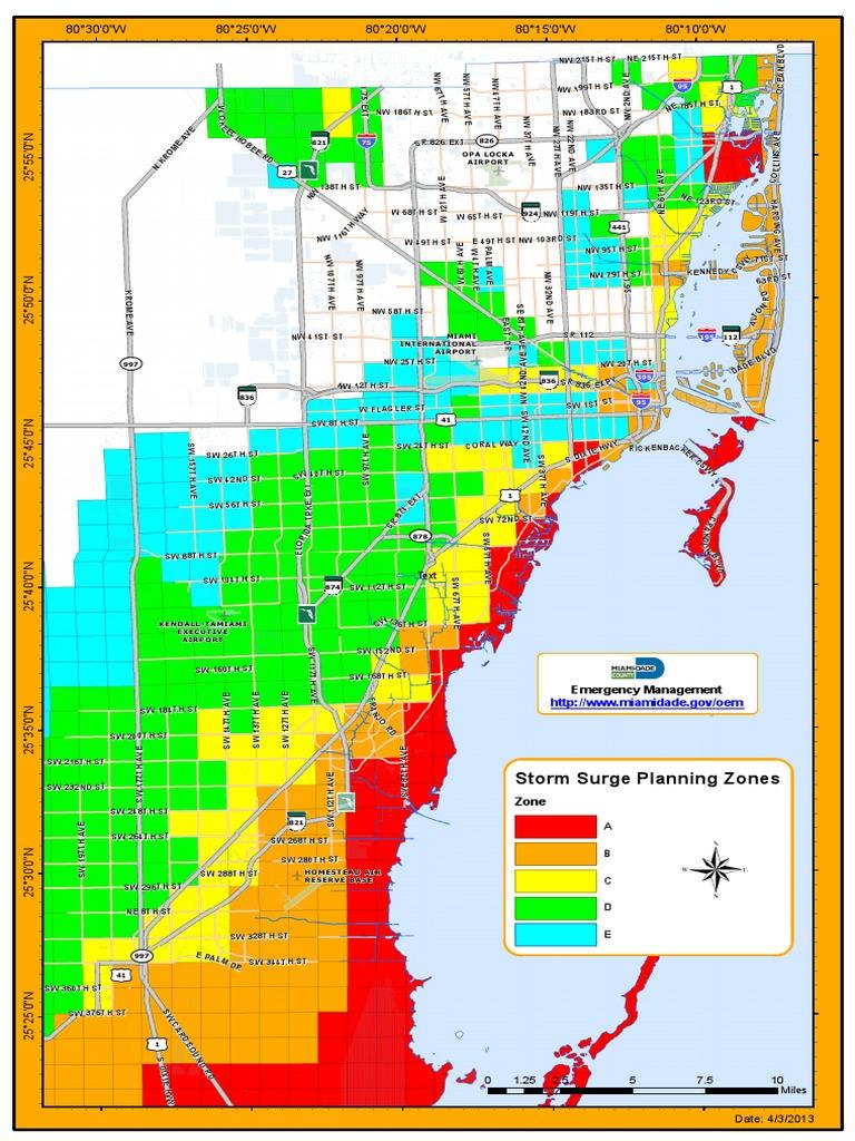 zonas de riesgo y plan de evacuación en miami-dade