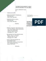 Temporary Restraining Order - Purple Line Case Court Filing