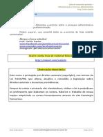 2 Lista de Exercícios Processo Administrativo