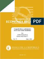 Documentos de trabajo sobre economia regional