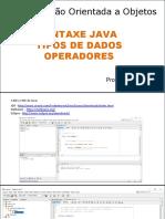Aula__poo Tipos de Dados e Operadores
