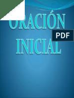 ORACION INICIAL