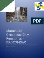 """MANUAL DE ORGANIZACIÃ""""N Y FUNCIONES DE PROCOMSAC.pdf"""