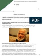 """Gabriel Salazar - El Proceso Constituyente de Bachelet """"Es Una Trampa"""""""