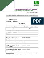 Programa Taller Intervencion Psicosocial 2014