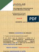 Morfossintaxe II - Aula 05