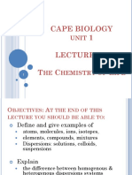 CAPEBIO1 the Chemistry of Life