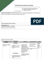 5. Esquema Planificación de Unidad de Aprendizaje