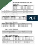 Cronograma Reuniões de Conselho de Classe 2017