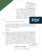 Demanda ante TC contra ley mordaza (no antitránsfuga). Ganamos, sentencia restablece derechos violados por fujiaprismo.