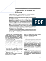 Effects on Wound Healing of Zinc Oxide in A