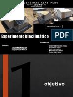EXPERIMENTO BIOCLIMATICO