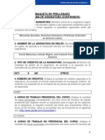 Programa Memorias Sociales, Derechos Humanos y Prácticas Culturales - Doctorado en Psicología
