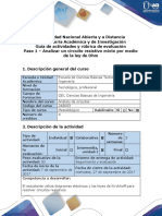 Guía de actividades y rúbrica de evaluación. Paso 1 - Analizar un circuito resistivo mixto por medio de la ley de Ohm