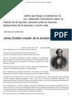 James Esdaile Creador de La Anestesia Hipnótica