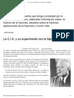 La C.I.A y experimentos mentales